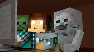 Minecraft Escola Monstro - MELHORES MOMENTOS ( CENAS ENGRAÇADAS) !!  Monster School