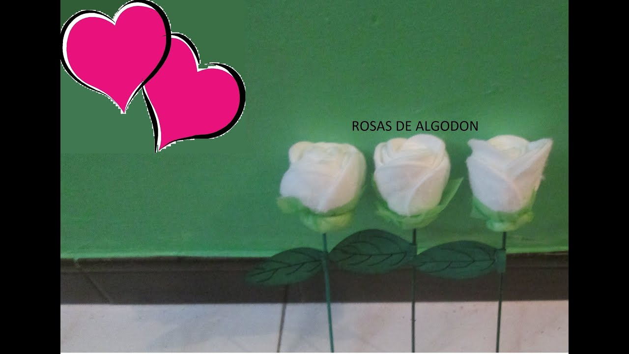 Manualidades como hacer rosas de algod n youtube - Manualidades como hacer ...