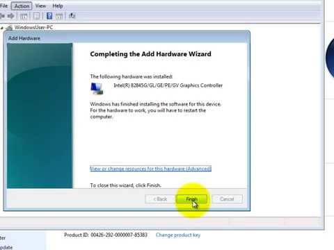How to Install Intel 82845G Graphics Driver on Windows 7