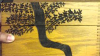 Wood Burning Tree Designs On A Box