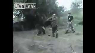Chechen rebels shows off Chinese Kung Fu