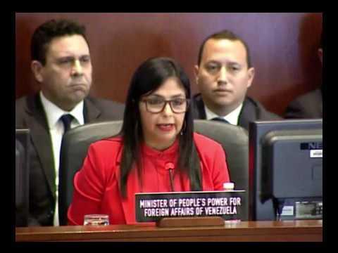 Canciller venezolana Delcy Rodríguez, discurso ante el Consejo Permanente de la OEA