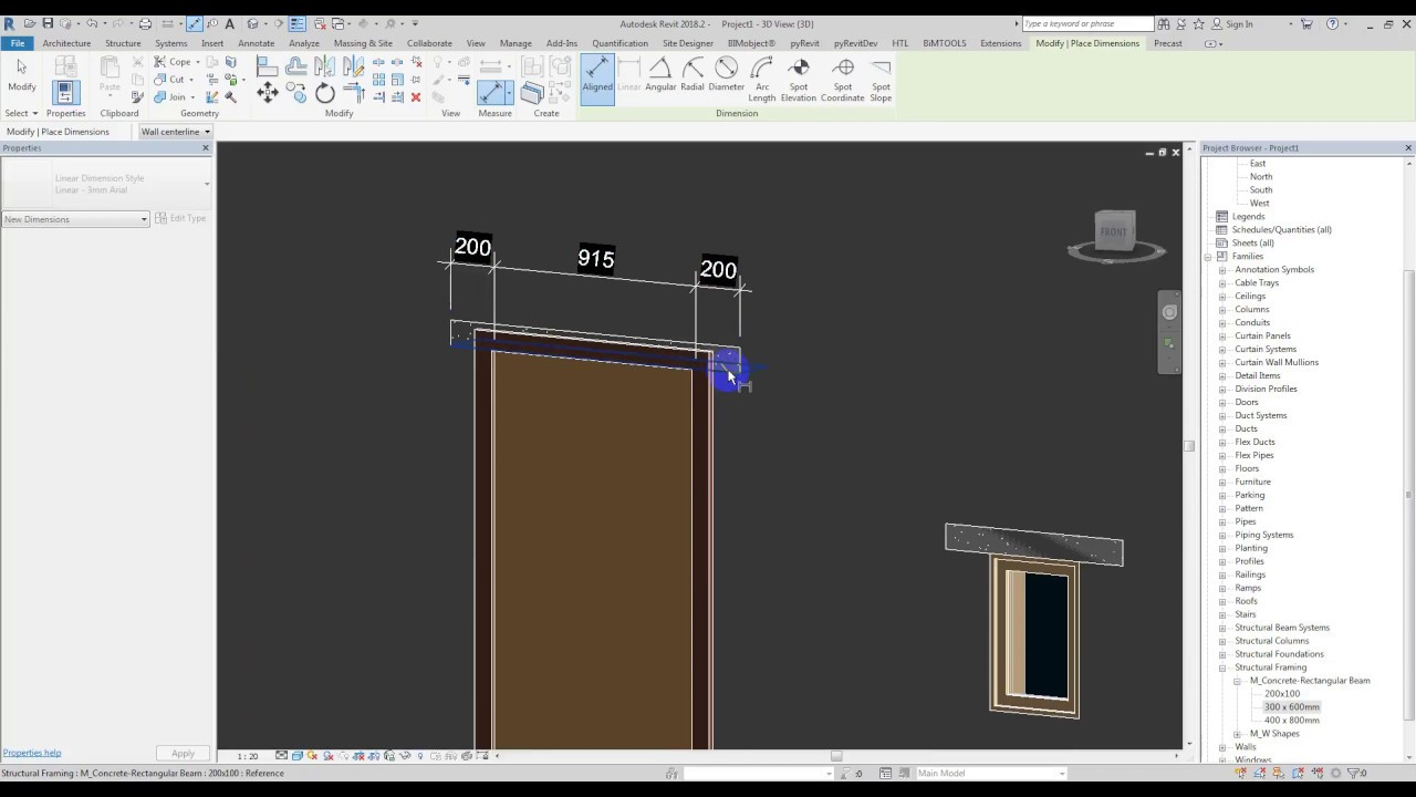 how to add doors and windows in revit