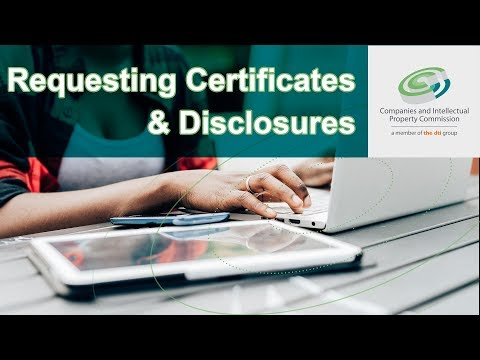 How To Request Certificates And Disclosures