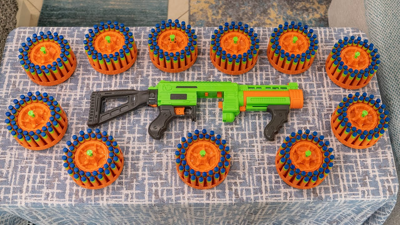 SHOOTING 430 NERF DARTS AS FAST AS POSSIBLE #19 | Adventure Force Villainator