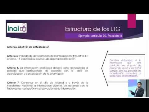 Capacitación INAI-PNT (lineamientos técnicos generales)