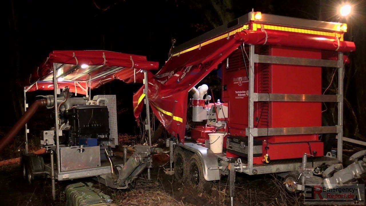 Am Tannenbaum Ratingen.Damm Droht In Ratingen Zu Brechen Lage Kritisch Feuerwehr Thw Im Einsatz