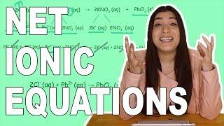 كيفية كتابة كاملة المعادلات الأيونية الصافية المعادلات الأيونية