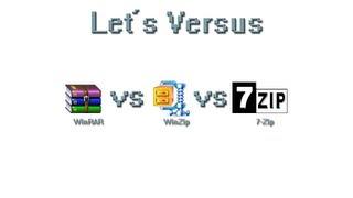 Lets Versus: WinRAR vs WinZip vs 7-Zip - Welches sollte man nehmen?