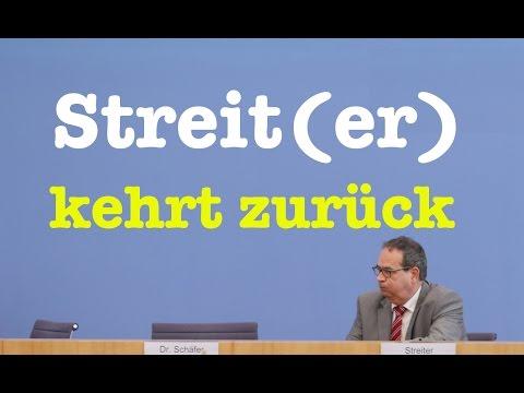 Streit(er) kehrt zurück - Komplette Bundespressekonferenz vom 11. November 2016