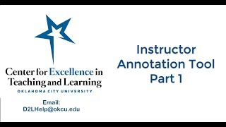 Instructor Annotation Part 1: Overview of the Annotation Tool