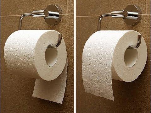 Как разместить туалетную бумагу в туалете