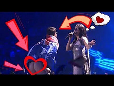 """Картинки по запросу На """"Евровидении"""" зритель выбежал на сцену и снял трусы"""