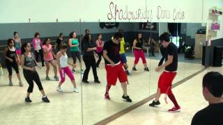Me Enamoré - Angel Y Khriz - Bachata Merengue Fitness Class w/ Bradley - Crazy Sock TV