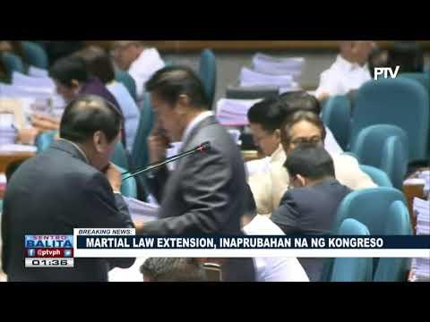 Download Youtube: BREAKING NEWS: Martial law extension, inaprubahan na ng Kongreso
