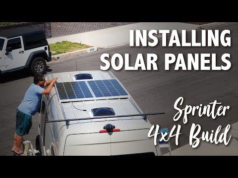 Installing 350 Watts of Solar Panels :: Sprinter 4x4 Camper :: Day 14