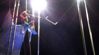Guy in wheelchair attempts flying trapeze