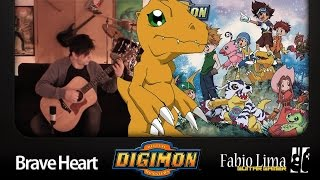 Digimon Brave Heart Meets Fingerstyle  by Fabio Lima GuitarGamer