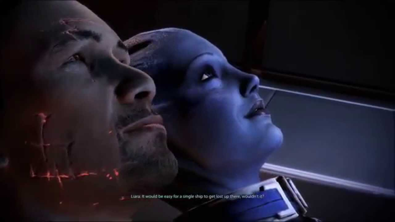 Mass Effect 3 (Romance) Last moments with Liara - YouTube