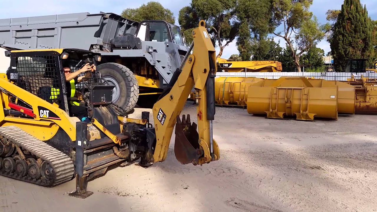 John Deere Backhoe Attachment >> BH30 in use - YouTube