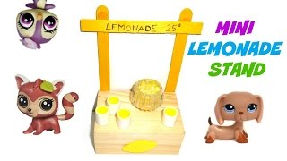 How To Make A Doll/lps Lemonade Stand -  Easy Lps Crafts & Diy Dollhouse Miniature Stuff