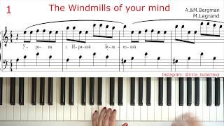 ЛЕГКАЯ КРАСИВАЯ МЕЛОДИЯ THE WINDMILLS OF YOUR MIND НА ПИАНИНО VERY SIMPLE EASY BEAUTIFUL PIANO Music