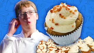 Kid Makes Delicious Pumpkin Cupcakes with MAPLE BACON Frosting  | Universal Kids