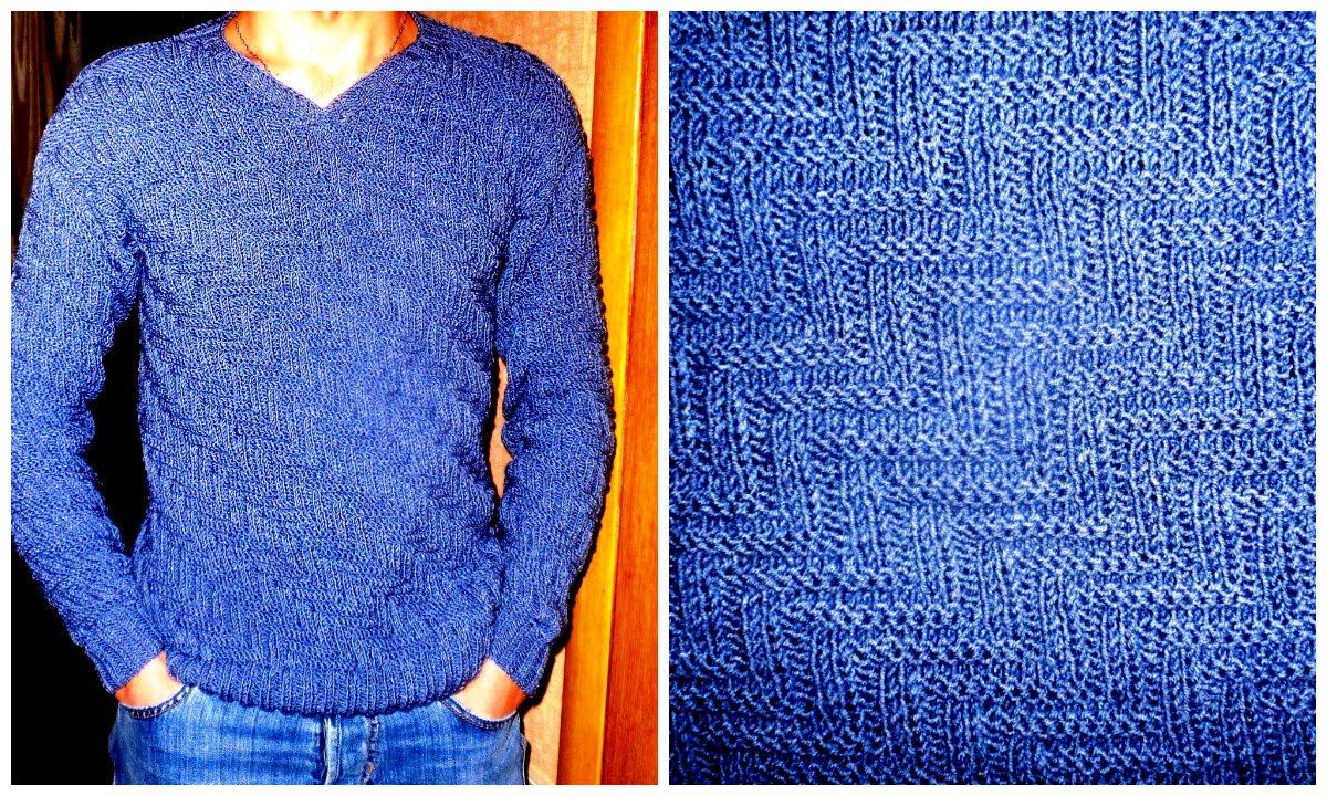 Вязание спицами свитер мужского