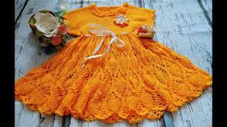 Детское платье крючком. Часть 1. Кокетка.