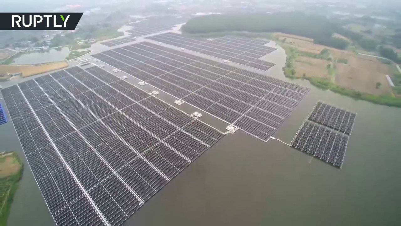 Aerial World S Largest Floating Solar Plant Up And