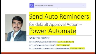 Send reminders for defualt approval action - Power Automate