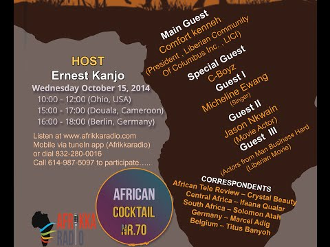 AFRICAN COCKTAIL No. 70 hosted by Ernest Kanjo Nfor Segment with Central Africa correspondent Ifaana