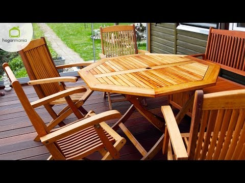 Restaurar muebles de terraza - YouTube