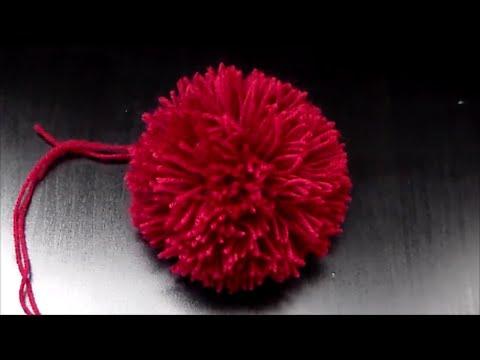 Cómo hacer un pompón de lana. Pompòn para gorro Giardino - YouTube