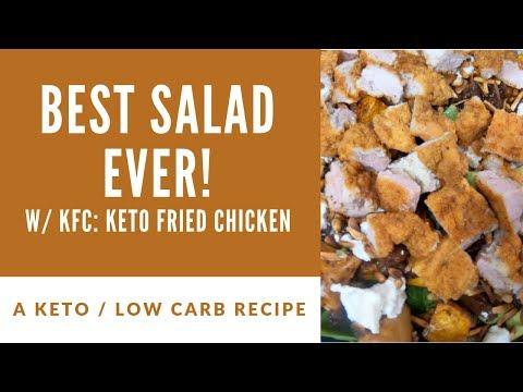 Roasted Pumpkin Rocket Salad With Crispy Chicken