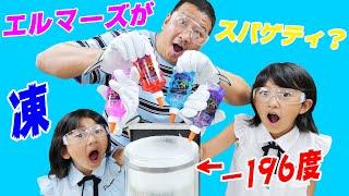 エルマーズをにょろにょろ液体窒素に入れたらスパゲティが出来上がるはず!?himawari-CH