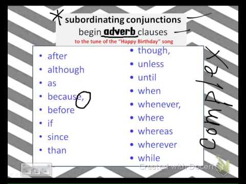 subordinating conjunctions song