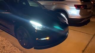 Tesla model 3 quick night view.