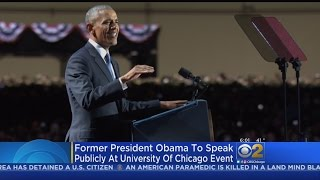 Obama Back In Chicago For First Post-White House Speech
