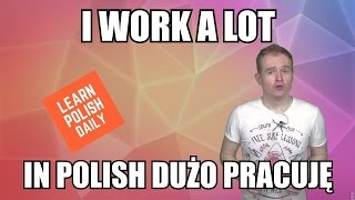 I Work a Lot - In Polish Dużo Pracuję
