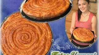 Пирог Улитка!Пирог с курицей из слоеного теста.