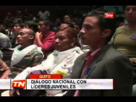 Diálogo nacional con líderes juveniles