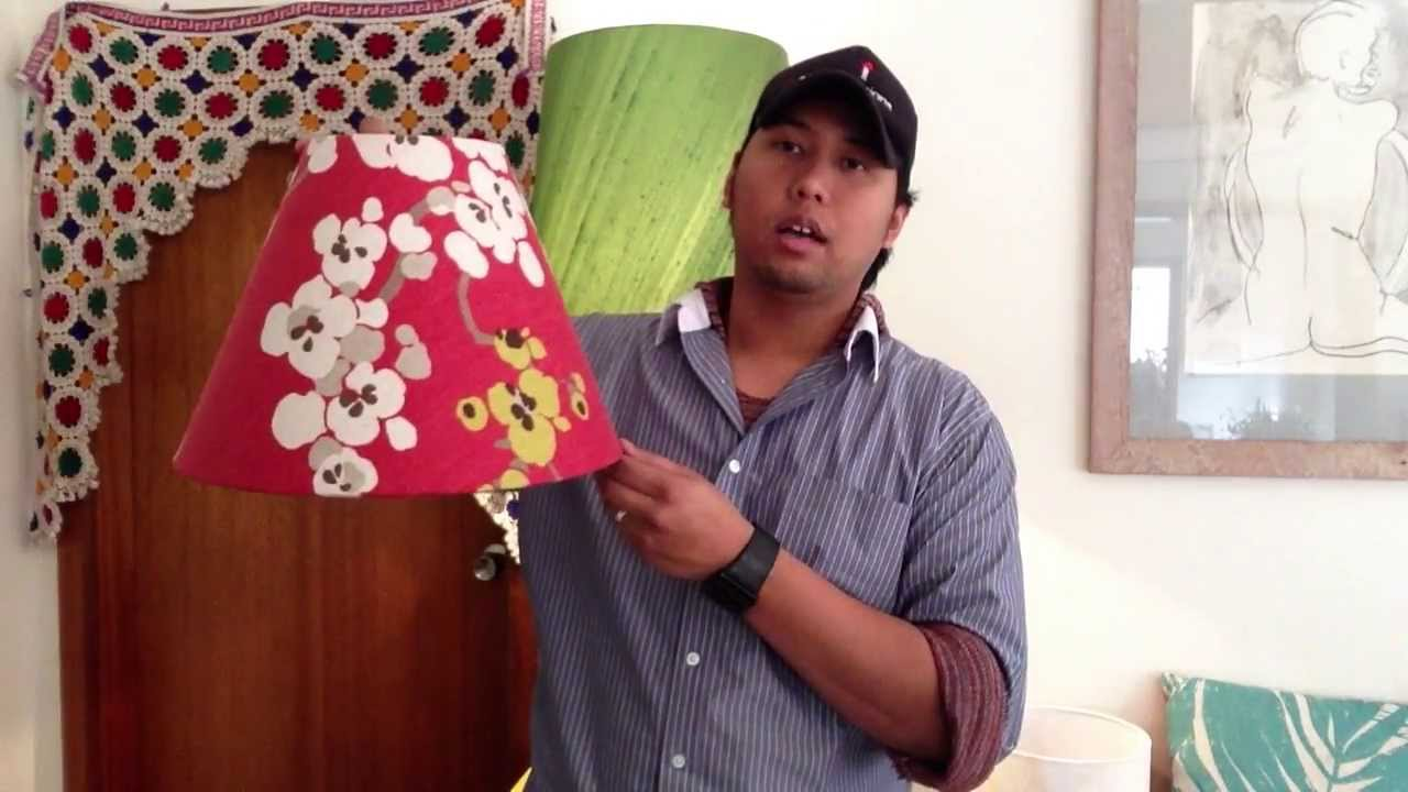 Guide to Lampshade Recovery and old Lamp Shade Repairs - YouTube