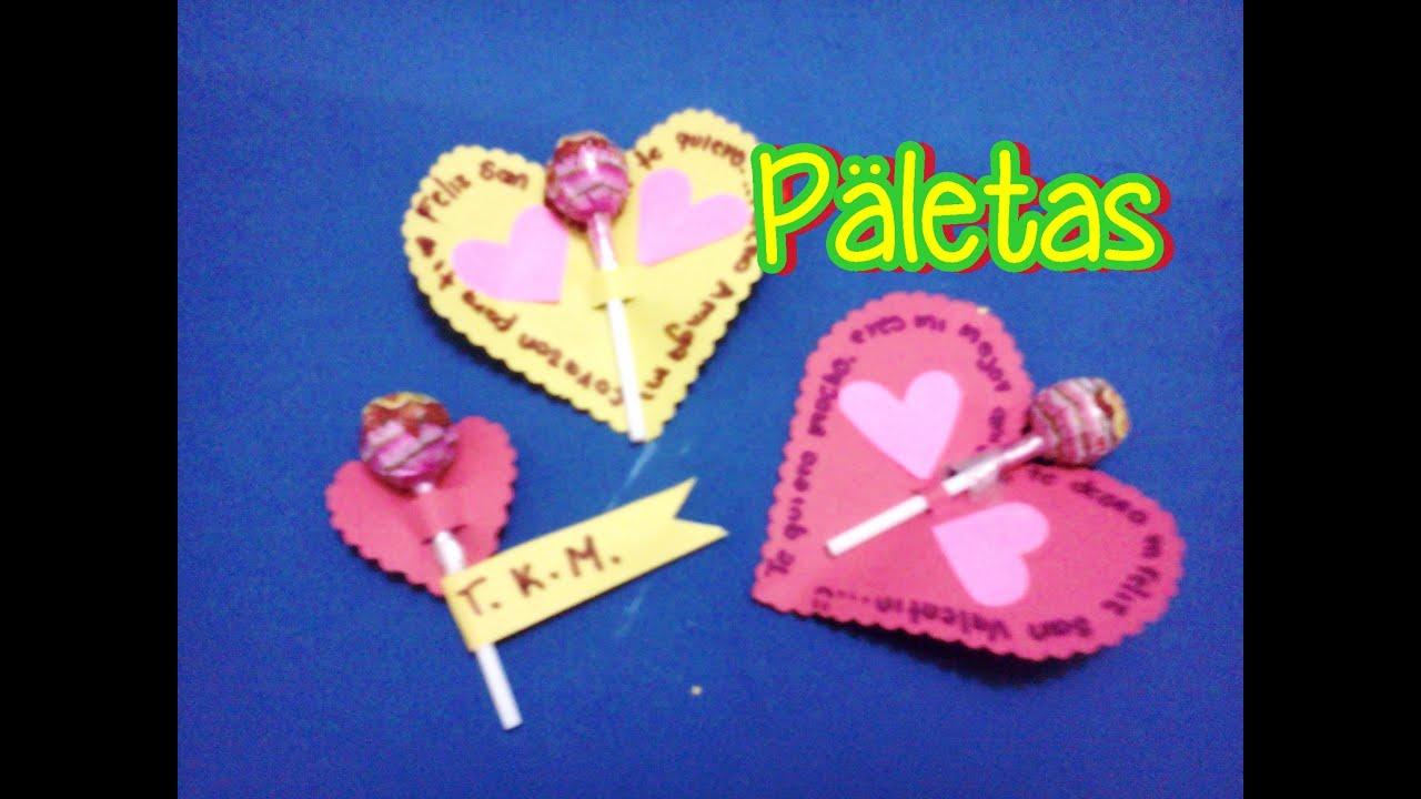 Videofugaz paletas con mensaje para regalar san valentin for Paletas de cocina decoradas