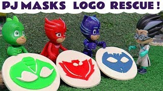 PJ Masks Play Doh logo rescue by Disney Cars Toys McQueen - Fun toy story for kids and children TT4U