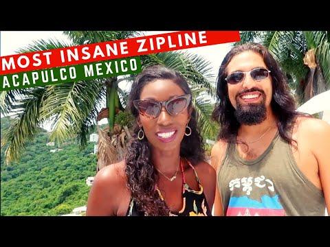 TRAVEL COUPLE ON WORLDS LARGEST OVERWATER ZIP LINE IN ACAPULCO MEXICO   XTASEA  TIROLESA