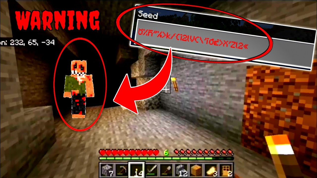 Do Not Ever Play On This Creepy Minecraft Seed Scary Youtube