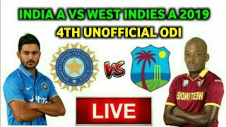 India A vs West Indies A 2nd ODI 2019 Live Streaming 🔴Ind A vs WI A 2nd ODI Live Score & Commentary