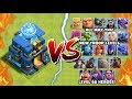 NEW MAX TROOP LEVELS vs GIGA TESLA – Clash of Clans Update! Town Hall 12 Giga Tesla vs All Troops!