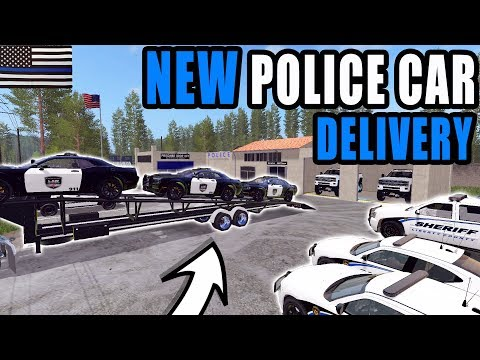 DELIVERING POLICE CARS TO THE STATION | FARMING SIMULATOR 2017 thumbnail